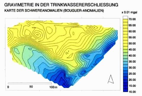 Trinkwassererschließung Gravimetrie Rheinkiese Brunnenergiebigkeit