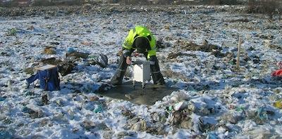 Geophysik Tutorial Umweltgeophysik Gravimetrie auf Mülldeponie