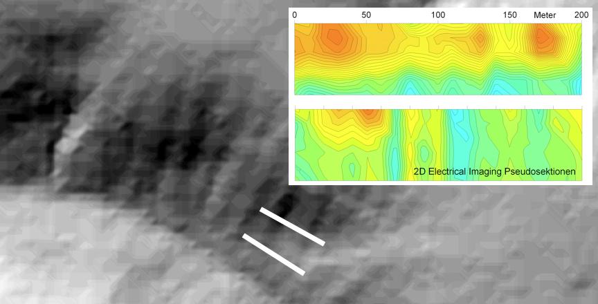 Digitales Geländemodell DGM 1 und Geophysik Tektonik