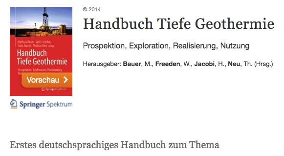 Handbuch Tiefe Geothermie Ernstson: Geologische und geophysikalische Untersuchungen