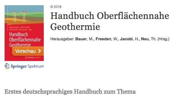 Handbuch oberflächennahe Geothermie Ernstson: Geologische und geophysikalische Untersuchungen