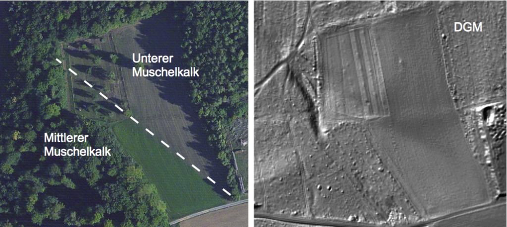 Tektonik im Digitalen Geländemodel und im Luftbild
