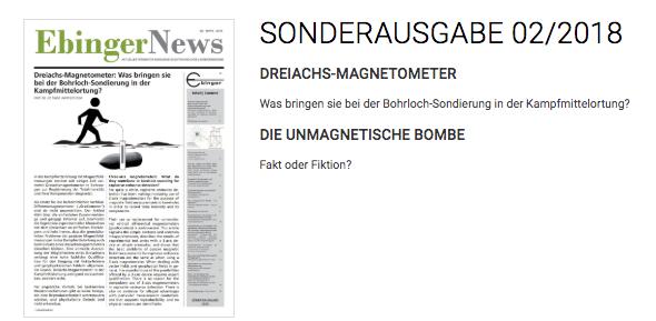 EBINGER GmbH Gerätebau News Artikel zu problematischer Kampfmittelortung